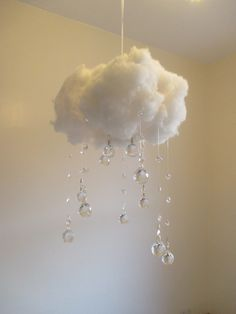 Nursery Night Light, Crystal Cloud Night Light, Nursery Lighting, Ooak Lighting, Soft Lighting, by TasteRoyalty on Etsy https://www.etsy.com/listing/214639631/nursery-night-light-crystal-cloud-night