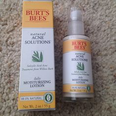 Burst bees acne solutions daily moisturizer Brand new with box never used Burts bees  Makeup Face Primer
