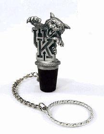 Kentucky UK Wildcats 3D Pewter Mascot Wine Bottle Stopper $28.00
