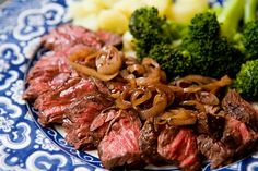 Hanger Steak with Shallots...AMAZING. If you can find hanger steak, try it.