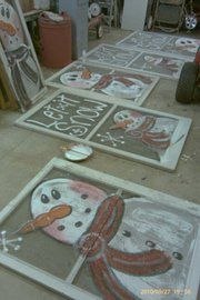 snowman screens-recycle, upcycle, reuse www.goldncountrygifts.com & https://www.facebook.com/weluv2cre8