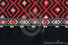 Elaborately woven Thai cotton fabric with silver beads