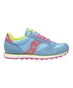 Look at this #zulilyfind! Bright Blue & Pink Suede Jazz Low Pro Sneaker - Women by Saucony #zulilyfinds