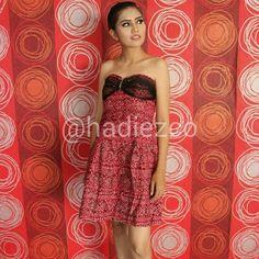 Redtile Batik Dress.  Dress party.