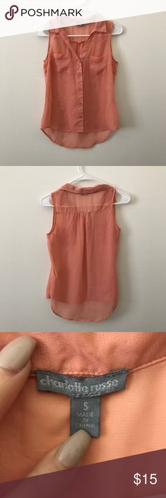 Coral top Used a couple times Tops Camisoles