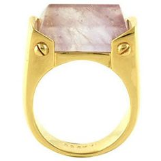CC Skye Lock It Ring ($118) ❤ liked on Polyvore featuring jewelry, rings, gold, lock jewelry, lock ring, cc skye and cc skye jewelry