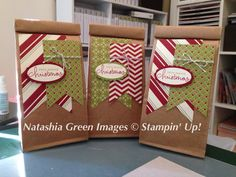 Cafe bags Christmas Stampin' Up!