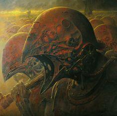 Oil painting on Masonite by Dariusz Zawadzki Bizarre Art, Creepy Art, Arte Horror, Horror Art, Dark Fantasy Art, Maya Diab, Face Anime, Art Tumblr, Arte Obscura