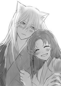 The wild fox demon Tomoe and the kind land goddess Nanami
