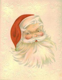 Christmas Card, Vintage Santa Claus, Unused