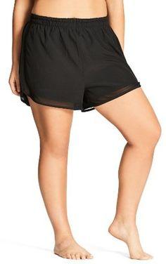 Shop Now - >  https://api.shopstyle.com/action/apiVisitRetailer?id=627504559&pid=uid6996-25233114-59 Plus Size Women's City Chic Mesh Boardie Shorts  ...