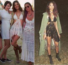 """Für Supermodel und """"Victoria's Secret""""-Engel Alessandra Ambrosio ist das Coachella-Wochenende DAS Fashion-Ereignis des Jahres. Denn das Herz der 35-Jährigen schlägt auch jenseits des Festivalgeländes für den sexy Hippie-Look, für den das legendäre Musik- und Kunstevent in Kalifornien berühmt ist. Entsprechend eilt Alessandra schon seit Jahren der Ruf der Coachella-Fashion-Queen voraus. Doch was ist das?! Dieses Jahr traute sich Dessous-Beauty Chanel Iman (25) doch tatsächlich, den Style der…"""