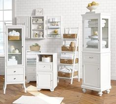 That tall one, for the girls' bathroom. Modular Wall Storage | Pottery Barn
