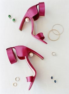 Ankle cuff pink sandals: http://www.stylemepretty.com/2016/05/05/a-wedding-that-proves-peonies-are-always-a-good-idea/ | Photography: Lacie Hansen - http://laciehansen.com/
