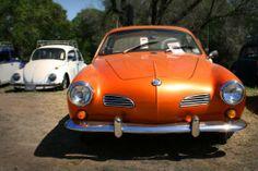 An orange Karmann Ghia (photo from/by quitecurious blogger)
