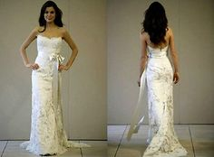 Stock hot lace Simple new wedding Brida​l Gown ball Dress size 6-8-1​0-12-14-16