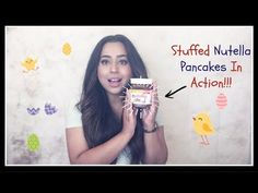 How to Make Nutella Stuffed Pancakes! - IN ACTION How To Make Nutella, Nutella Pancakes, Action, Youtube, Group Action, Youtubers, Youtube Movies