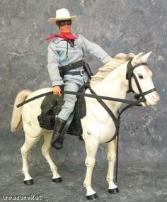 Gabriel Toys did this poseable LR and Silver on about the scale of the Johnny West toys (foot tall dolls, horses to scale), not bad if you pose them well.