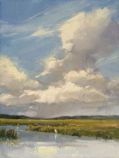Swirling Sky - Plein Air Magazine Photo Essay, painting by artist Laurel Daniel Abstract Landscape Painting, Watercolor Landscape, Landscape Art, Landscape Paintings, Acrylic Sky Painting, Watercolor Painting, Landscape Fabric, Knife Painting, Watercolor Artists