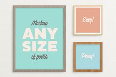 Poster Frame Mockup – fits ALL sizes by tyunderscore on Creative Market