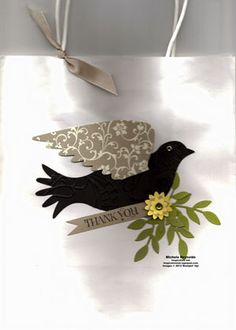 Extra Elegant Bird Gift Bag 1 by Michelerey - Cards and Paper Crafts at Splitcoaststampers