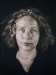 Chuck Close daguerrotype of Kiki Smith