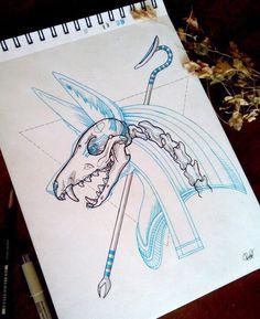 26 Best Ideas For Tattoo Designs Ideas Egypt Animal Drawings, Sketch Book, Art Drawings, Art Tattoo, Egyptian Tattoo, Egyptian Art, Art, Art Reference, Anubis Tattoo