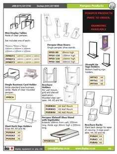 In store Signage, Ticketing, Pricing Tools & Accessories