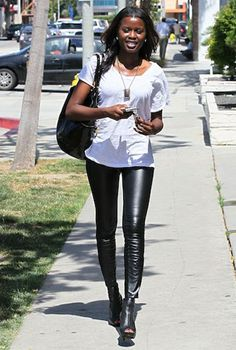 Revel in a street style, celeb-filled slideshow that gives us so many ideas for wearing leather leggings, day or night.
