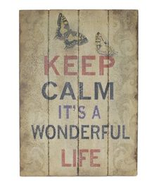Wooden Wall Art with Life Textual Art