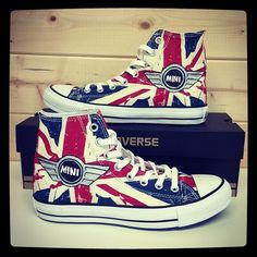 Mini Converse Shoes that are red,white and blue! freedom!!!!