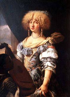 Portrait d'une femme avec un page mauresque, artiste inconnu de la fin du XVIIe siècle