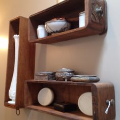 Drawers as shelves! Loving this idea!