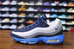 NIKE AIR MAX '95 NO SEW(Cool Grey/Dark Obsidian/Wolf Grey)  #bestsneakersever.com #sneakers #shoes #nike #airmax95 #nosew #coolgrey #darkobsidian #wolfgrey #style #fashion