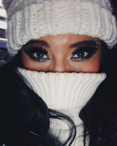"""kirstin™ on Instagram: """"the cold (almost) never bothered me anyway?!? ❄️"""" Pentatonix, Skin Treatments, How Beautiful, Dark Hair, Halloween Face Makeup, Winter Hats, Cold, Photo And Video, Instagram"""