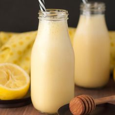 Creamy, fruity citrus Sunshine Lemon Smoothie recipe is the perfect breakfast, snack, or immune-boosting drink when you're feeling sick or just need a pick-me-up!