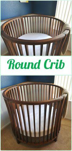 DIY Round Crib - DIY Baby Crib Projects [Free Plans]