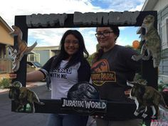 Party jurassic world photo booth