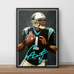 Cam Newton   Carolina Panthers  Football Poster by TroutLifeStudio