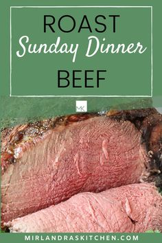 This Roast Beef only takes five minutes to get in the oven and comes out perfectly every time. Even cheap cuts of meat are sensational! This is good enough to be a holiday roast and easy enough to be Sunday dinner. My easy trick will help you get it cooked just right! #easy #beef #sundaydinner #familymeals #specialoccasion Easy Crockpot Soup, Crock Pot Soup, Easy Chicken Recipes, Crockpot Recipes, Easy Recipes, Dinner Dishes, Main Dishes, Oven Roast Beef, Kids Meals