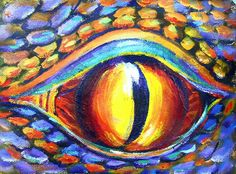 63 ideas for eye painting acrylic art lessons Acrylic Painting Lessons, Eye Painting, Acrylic Art, Painting Abstract, Dragon Eye Drawing, Dragon Art, Animal Art Projects, 6th Grade Art, Art Lessons Elementary
