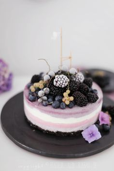 Oreo and berry frozen Cheescake