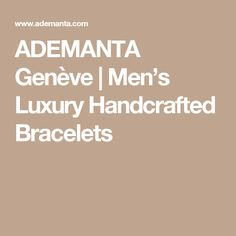 Ademanta is a Swiss men's accessories luxury brand Inspired by Aviation. Our bracelets are contemporary, fancy and timeless, exquisitely hand-crafted with an uncompromising level of quality. Men's Accessories, Luxury Branding, Bracelets, Men Accessories, Bracelet, Arm Bracelets, Bangle, Bangles, Anklets