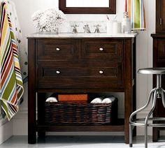 Bonus Bath: Like the color of this Console - Espresso finish | Pottery Barn