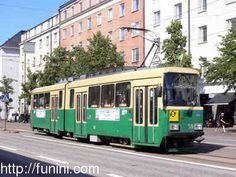 This is the older model of trams in Helsinki - they looked like this when I lived there.