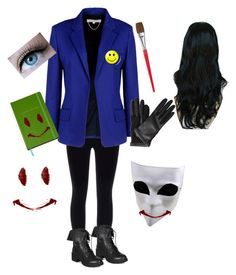 """Bloody Painter Cosplay"" by maddyinsanegurl ❤ liked on Polyvore"