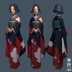 The Parallel : Hana Zbrush Character, 3d Model Character, Character Modeling, Character Creation, Character Concept, Character Art, Concept Art, Polygon Art, Fanart