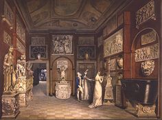 "William Chambers, ""The Townley Marbles in the Dining Room of 7 Park Street, Westminster"", 1794."