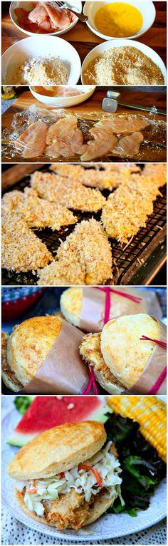 Fried Chicken Sandwich w/ Pineapple Slaw