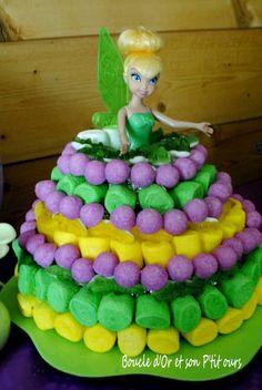 Créer un gâteau de bonbons Fée Clochette [3 ans de Miss B]